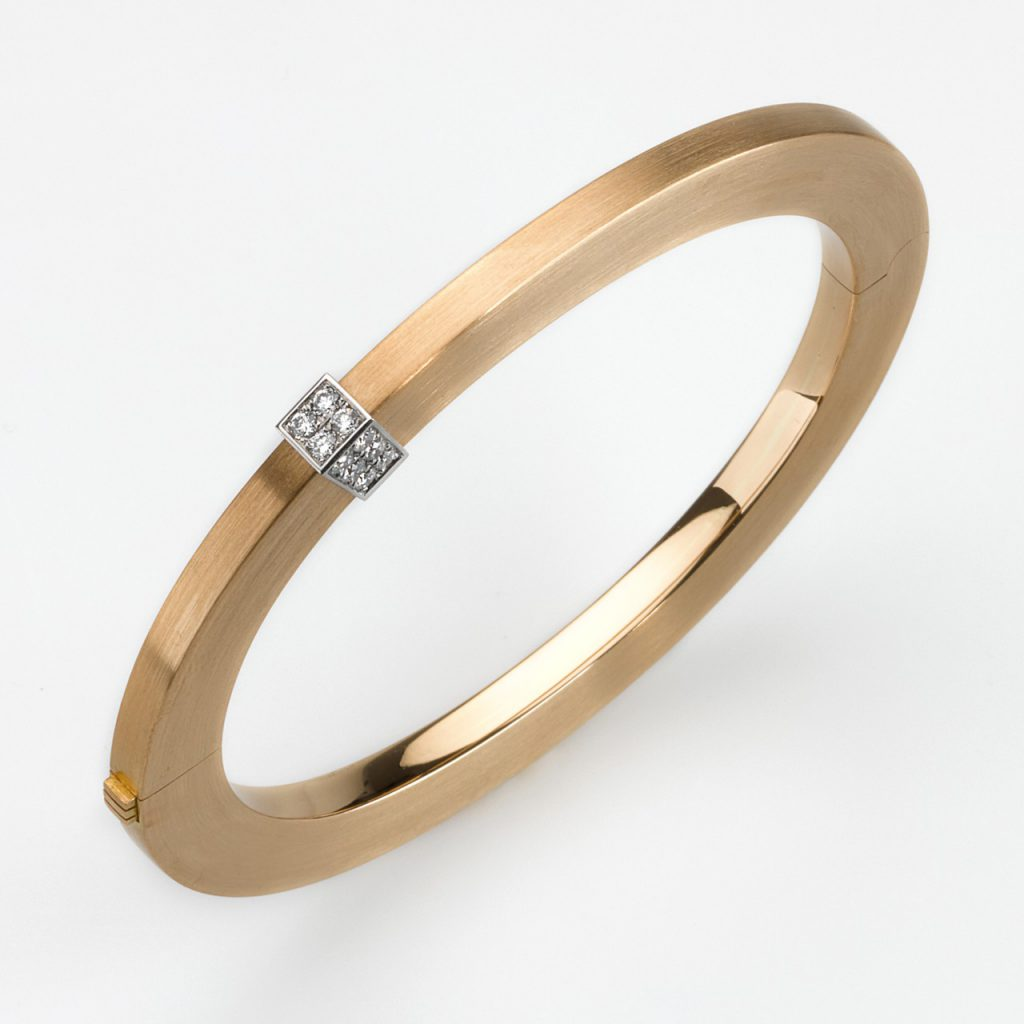 Armreif Gold 750/- Platin 950/- 16 Brillanten 0,5ct