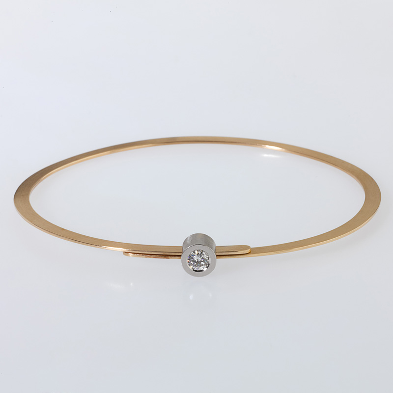 Bracelet Gold/Platinum 1 brillant