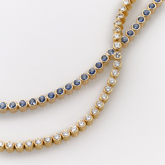 Bracelet Gold 750/- 51 Sapphires