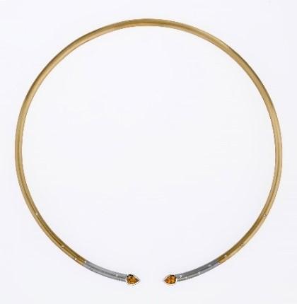 Halsreif Gold 750/-, Platin 950/- Saphire / Brillianten